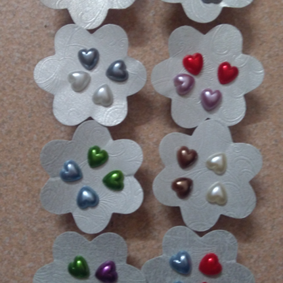 Colourful heart Earrings (20 Pairs)
