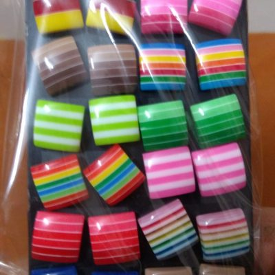Colorful Square Stud Earings
