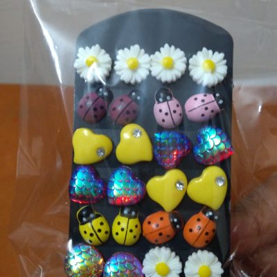 Assorted Stud Earrings (12 Pairs)