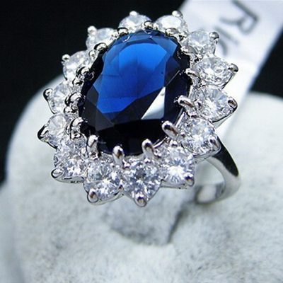 BLUE CRYSTAL RING