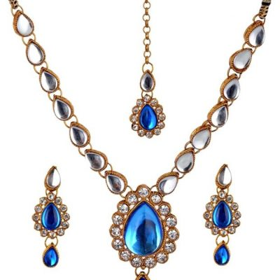 Single Strand Kundan Necklace Set