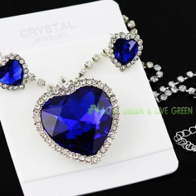 blue crystal necklace set3