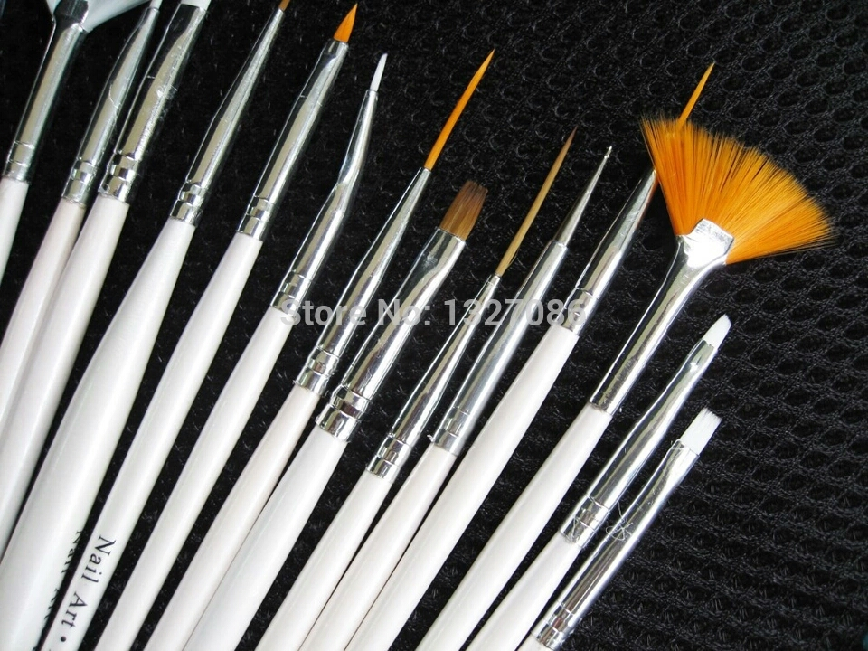 Nail art brushes set 15pcs u fairy nail art brushes set prinsesfo Gallery
